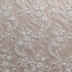 12. Ivory Soft Beaded Chantill