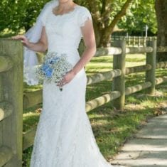 Lace Wedding dress fabric by Elizabeth Jayne