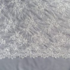 25. Ivory Corded Chantilly Lace