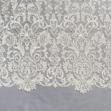 6 - Ivory Filligree Embroidered Tulle Lace