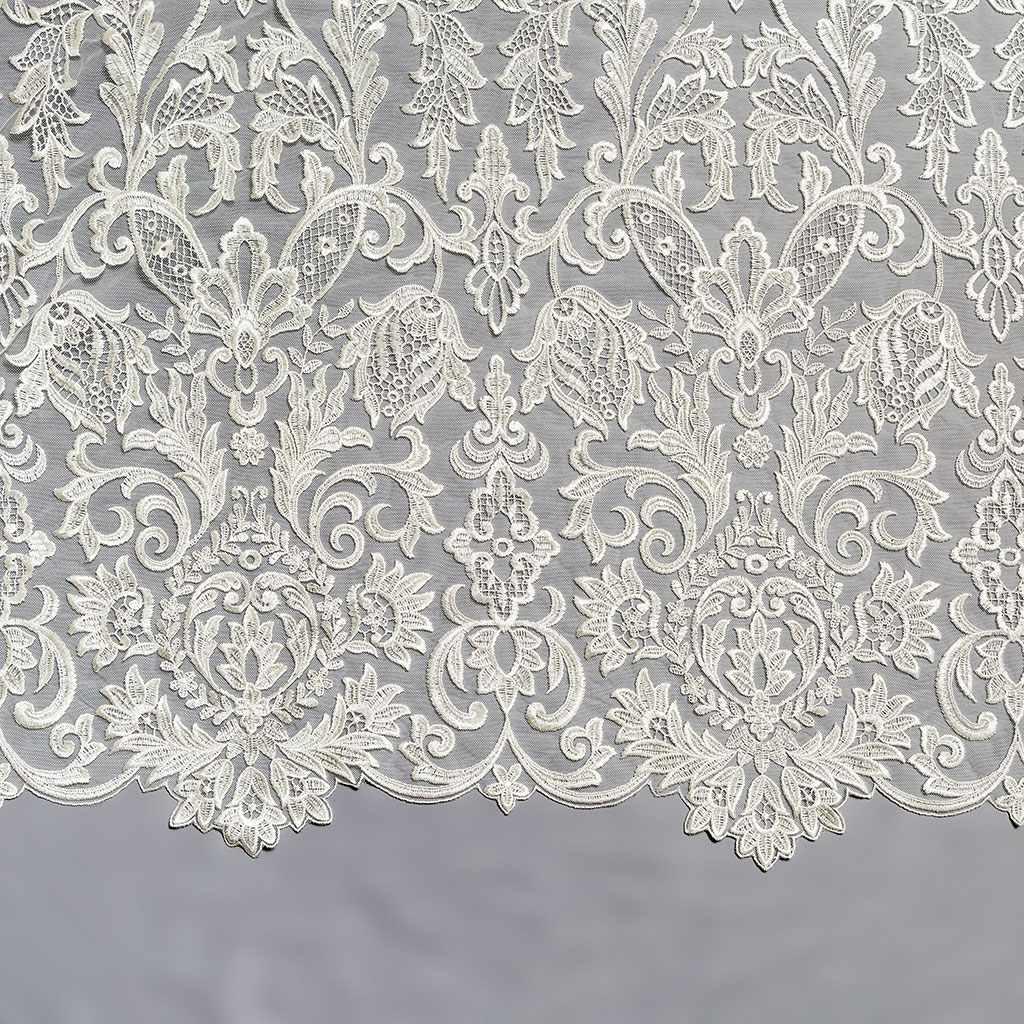 White bridal lace fabric images for Wedding dress lace fabric