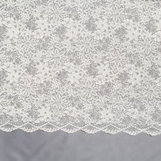 10 - Ivory Embroidered Soft Lace