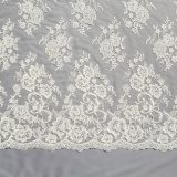 12 - Ivory Beaded Embroidered Lace
