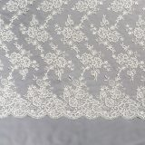 16 - Ivory Beaded Corded Lace
