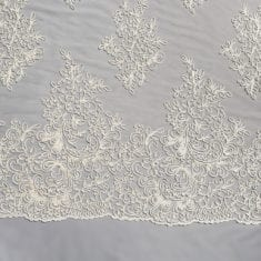 45. Cream Heavy Corded Tulle