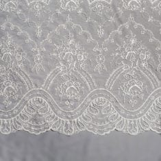 29. White Sequinned Lace