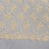 19 Gold Beaded Lace Fabric