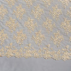 3. Latte/Gold Beaded Lace