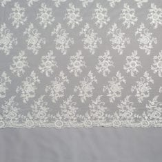 29 - Ivory Beaded Sequinned Lace