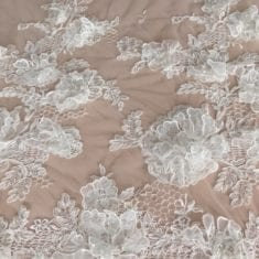 44. 3D Embroidered Lace, Ivory