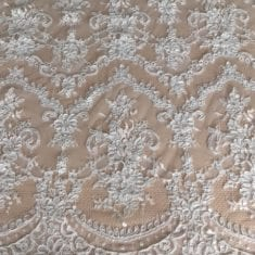 39. White Embroidered Lace