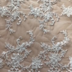 43. White Sequinned Lace